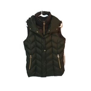 Michael Kors Green layered puffy vest